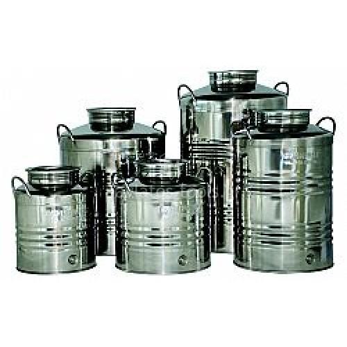 Ανοξείδωτο δοχείο (inox) λαδιού-κρασιού με βιδωτό καπάκι Unimac 20lt 693165