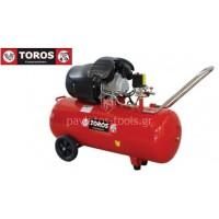 Αεροσυμπιεστής Toros μονομπλόκ ελαιολίπαντος TM 100/3 100lt 3HP 40139