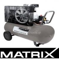 Αεροσυμπιεστής Matrix AC 30-100 DZ με ιμάντα 90 λίτρων 3hp 897766