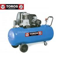 Αεροσυμπιεστής Toros N2.8S-100C-3T 400V/50Hz 100lt 3hp τριφασικό 602015