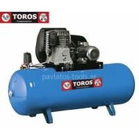Αεροσυμπιεστής Toros N6-500F-7.5T 400V/50Hz 500lt 7.5hp τριφασικό 602013