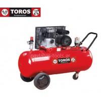 Αεροσυμπιεστής Toros MK103-90-3 400V 90lt 3hp τριφασικό 602056