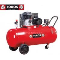 Αεροσυμπιεστής Toros 300/5.5 400V 300lt 5.5hp τριφασικό 13641