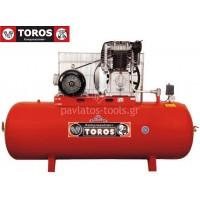 Αεροσυμπιεστής Toros 500/10 400V 500lt 10hp τριφασικό 13649