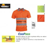 Polo T-shirt Viswell υψηλής διακριτότητας Rome πλέξης cool pass πορτοκαλί VWPS01A 725095-98