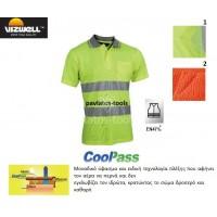 Polo T-shirt Viswell υψηλής διακριτότητας Rome πλέξης cool pass κίτρινο VWPS01A 725090-93