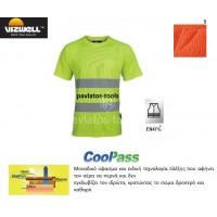 T-shirt Viswell υψηλής διακριτότητας Naples πλέξης cool pass κίτρινο VWTS01A 725110-13