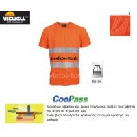 T-shirt Viswell υψηλής διακριτότητας Naples πλέξης cool pass πορτοκαλί VWTS01A 725115-18