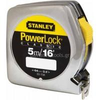 Μέτρο Stanley POWERLOCK με κέλυφος ABS 5m 0-33-158