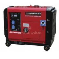 Γεννήτρια Kumatsu πετρελαίου GP8000ΜΑ κλειστού τύπου με μίζα&μπαταρία