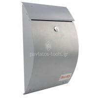 Γραμματοκιβώτιο Bormann 30x22x7 cm ασημί BMB1000 022695