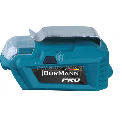Power bank-usb φακός Bormann 2 σε 1 20V σώμα (χωρίς μπαταρία+φορτιστή) BBP1010 032779