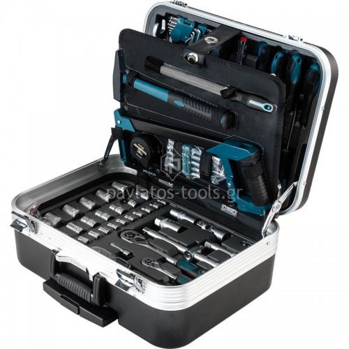 Βαλίτσα σετ εργαλείων τροχήλατη ABS με 132 εργαλεία chrome-vanadium BHT5210 035800