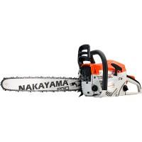 Αλυσοπρίονο βενζίνης Nakayama Pro 2.4HP 45cm λάμα PC4610 036463 με δώρο ρολόι ιαπωνικού μηχανισμού