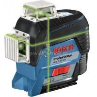 Γραμμικό Λέιζερ Bosch με Πίνακα Στόχου και Στήριγμα Τοίχου BM1 Πράσινης Προβολής σε L-Boxx (1x2Ah) 12V GLL 3-80 CG 0601063T00