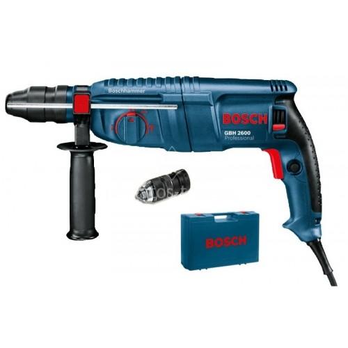Κρουστικό Πιστολέτο Bosch 720 Watt SDS-PLUS με extra ταχυτσόκ GBH 2600 Professional 0611254803