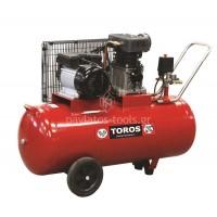 Αεροσυμπιεστής Toros μονοφασικός ZA65-100 100ltr 3hp 40144