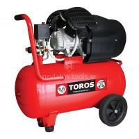Αεροσυμπιεστής Toros μονομπλόκ ελαιολίπαντος TM 50/3 50ltr 3HP 40146
