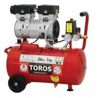 Αεροσυμπιεστής TOROS oil free silent (χαμηλού θορύβου) 24ltr 1hp 40151