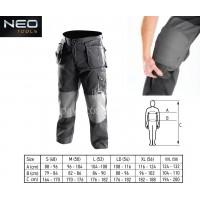 Παντελόνι εργασίας Neo Tools με αφαιρούμενα παντζάκια και τσέπες, 65% polyester, 35% βαμβακερό, 267g/m2 419146