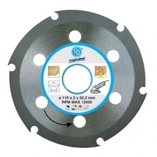 Δίσκος κοπής ξύλου Φ115 (για γωνιακό τροχό) PG 419.90