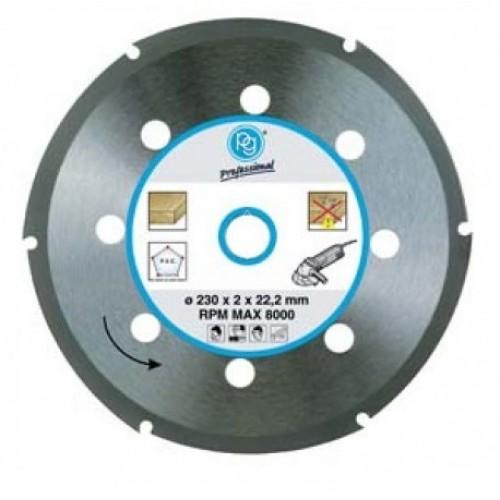 Δίσκος κοπής ξύλου PG για γωνιακό τροχό με διάμετρο 230mm 419.95