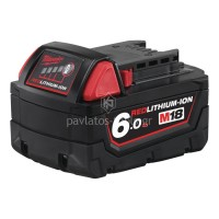 Μπαταρία Milwaukee 18V 6.0 Ah M18 B6 4932451244