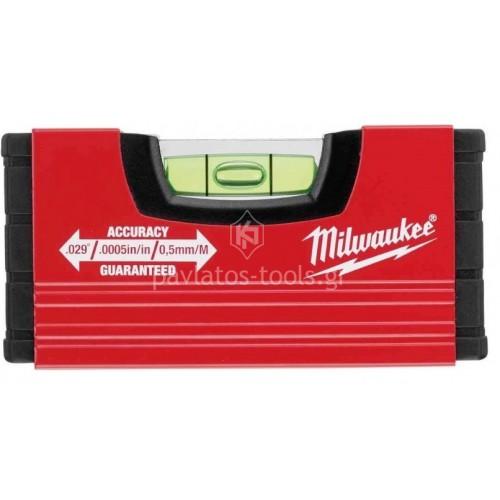 Αλφάδι τσέπης Milwaukee slim mini 10cm 4932459100