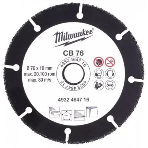 Δίσκος κοπής καρβιδίου Milwaukee ⌀ 76mm 4932464716