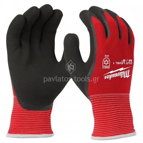 Γάντια εργασίας Milwaukee χειμερινά CUT LEVEL 1 4932471343-46