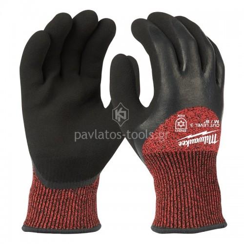 Γάντια εργασίας Milwaukee χειμερινά CUT LEVEL 3 4932471347-50