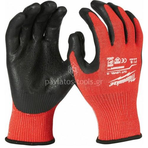 Γάντια εργασίας Milwaukee κρουστικά CUT LEVEL 3 4932471420-23