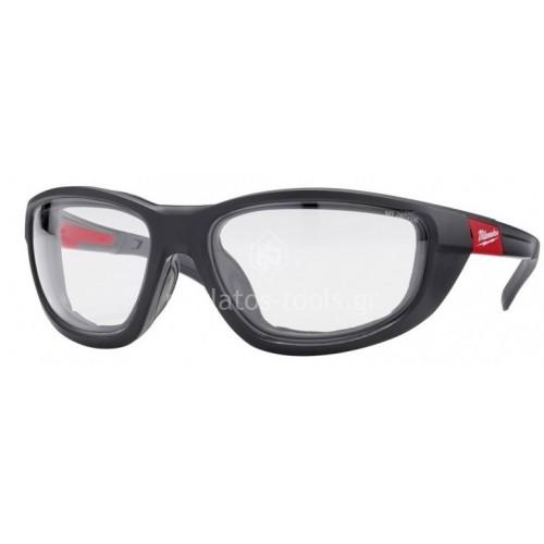 Γυαλιά Milwaukee premium ασφαλείας με παρέμβυσμα διάφανα 4932471885