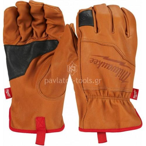 Γάντια εργασίας Milwaukee δερμάτινα κρουστικά CUT LEVEL 1 4932478123-6