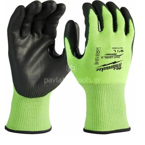 Γάντια εργασίας Milwaukee φθορίζων CUT LEVEL 3 4932478131-34