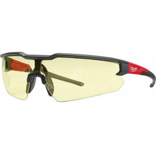 Γυαλιά ασφαλείας Milwaukee κίτρινα 4932478927