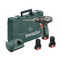 Κρουστικό Δραπανοκατσάβιδο Metabo 10,8V (3x2.0Ah) 2 ταχυτήτων PowerMaxx SB Basic 6.00385.96