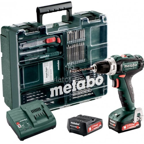 Δραπανοκατσάβιδο μπαταρίας Metabo 12 Volt Powermaxx BS 12 Set (2x2.0Ah) 6.01036.87