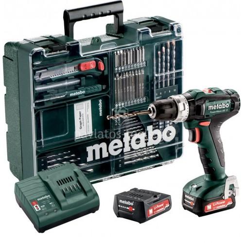 Κρουστικό Δραπανοκατσάβιδο μπαταρίας Metabo 12 Volt Powermaxx SB 12 Set (2x2.0 Ah) 6.01076.87