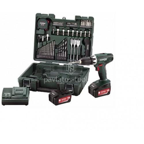 Δραπανοκατσάβιδο μπαταρίας 18V Metabo 2 ταχυτήτων  BS 18 Li Set Κινητό Συνεργείο 6.02116.88