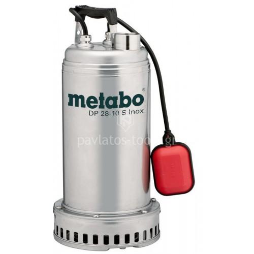 Βυθιζόμενη εργοταξιακή Αντλία λυμάτων Metabo 1850 Watt DP 28-10 S Inox 6.04112.00
