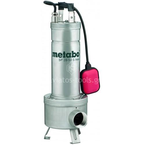 Βυθιζόμενη εργοταξιακή Αντλία λυμάτων Metabo 1470 Watt SP 28-50 S Inox 6.04114.00