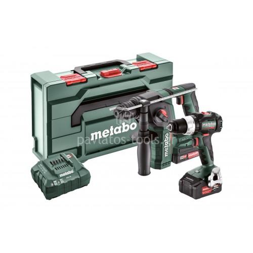 Set Μπαταρίας Metabo 18 Volt Combo  2.5.2 18 V BS 18 LT BL & BH 18 LTX BL 16 (1x2.0Ah-1x4.0Ah) 6.851820.00