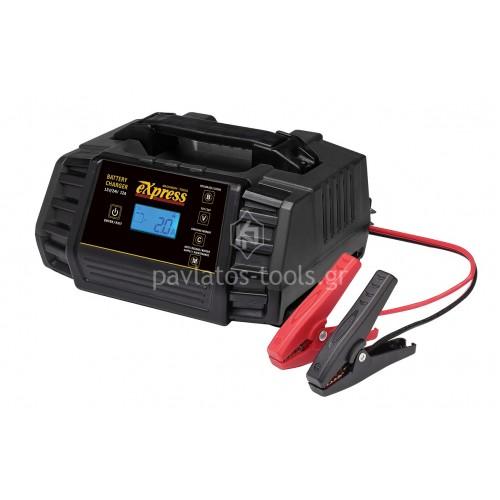 Αυτόματος ηλεκτρονικός φορτιστής-συντηρητής μπαταριών Express 12/24V 60111