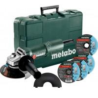 Γωνιακός τροχός Metabo 750 Watt+3 δίσκοι κοπής W 750-125 SET 603605680