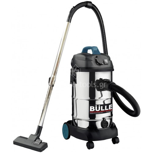 Σκούπα Bulle 1600 Watt κατάλληλη για χρήση με ηλεκτρικά εργαλεία inox 30lt 605263
