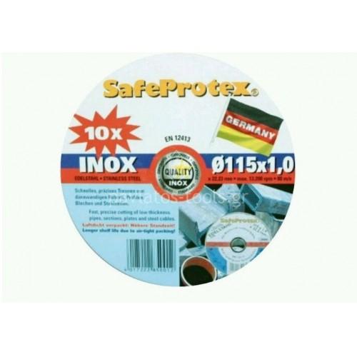 Δίσκος κοπής τροχού inox Safeprotex Φ115x1,0x22,2mm 6185132