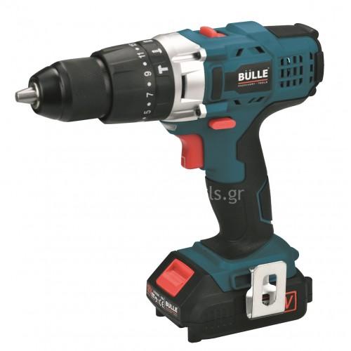 Κρουστικό Δραπανοκατσάβιδο Bulle 18V Li-on 2 ταχυτήτων (1x2.0Ah) 633075