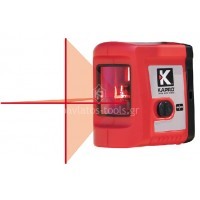 Αλφάδι Laser σταυρού Kapro δύο ακτινών κόκκινης γραμμής (οριζόντια & κάθετη) εσωτερικού χώρου 862 633110