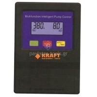 """Ηλεκτρονικός πίνακας ελέγχου Kraft υπ.αντλιών 4"""" τριφασικός 400V/5.5-10HP με οθόνη LCD χωρίς πυκνωτή 63591"""